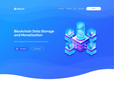 Datum Homepage Animation ui ux design landing page animation website scroll transition web animated interaction user interface homepage user experience designer commercial marketing site secure shop profile