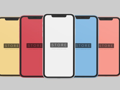 iPhone XR Mockup phone clay ramotion store ramotion ui sketch psd iphone xr iphone x download freebie free mock-up mockup iphone