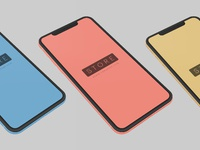 Iphone xr clay 2 colors frontal psd 2x