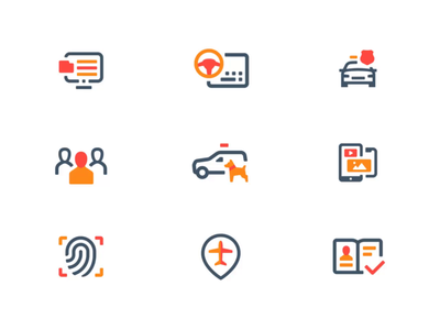 Cellebrite Pictograms icons branding pictogram pictogram set clean interface icons stroke outline style mobile app design user experience user interface ux ui workflow local activities icon animation transition details
