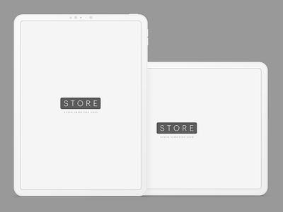 iPad Pro Mockup Clay tablet clay download mockup ipad mock-up ui freebie psd free ipad pro