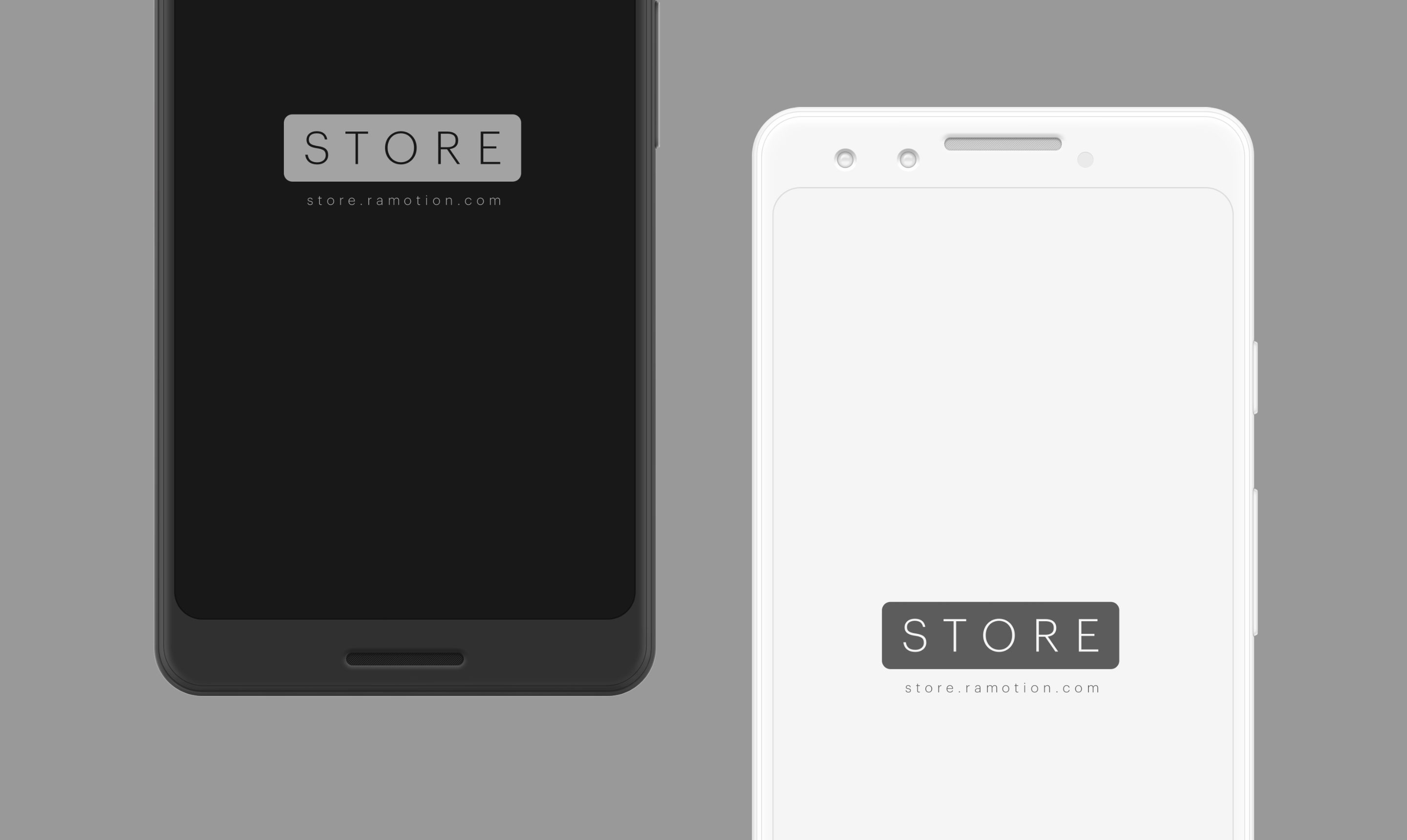 Google pixel 3 clay white black frontal mockup psd 2x