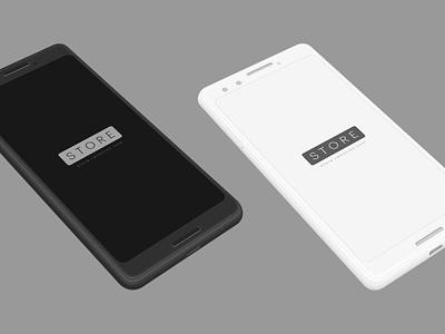 Android Mockup - Google Pixel phone sketch psd mock-up ui pixel google mockup android psd mockups free mockups freebie