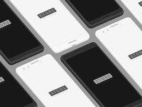Google pixel 3 black white isometric psd 2x