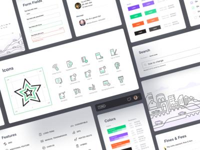 Turo –Support portal UI kit color scheme logo user interface web development web design agency car service ui kit icon set product design web design ramotion