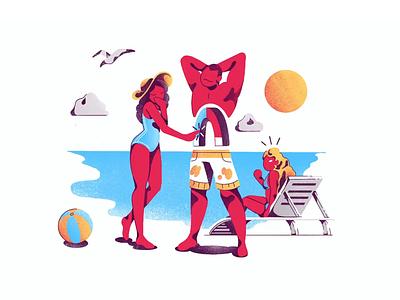 Tempting Magnet design agency body woman man ui design illustration art exercise illustration
