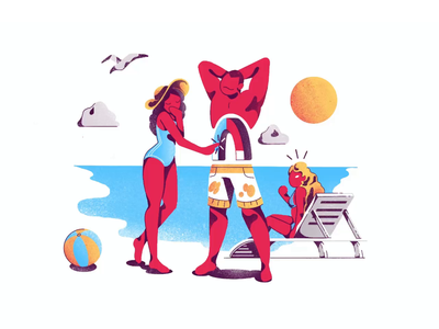 Tempting Magnet design agency body woman man ui design illustration art exercise illustration