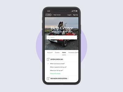 Turo Support Portal help center helpdesk mockup car ramotion landing page web design webdesign support portal support ui ui kit user interface ipad iphone website