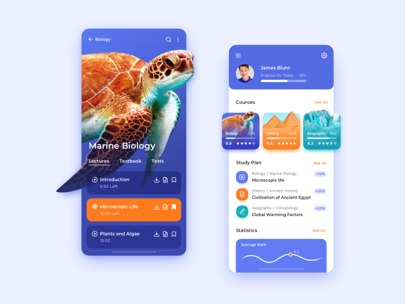 Mobile App Concept: Education ramotion ux designer education ux design
