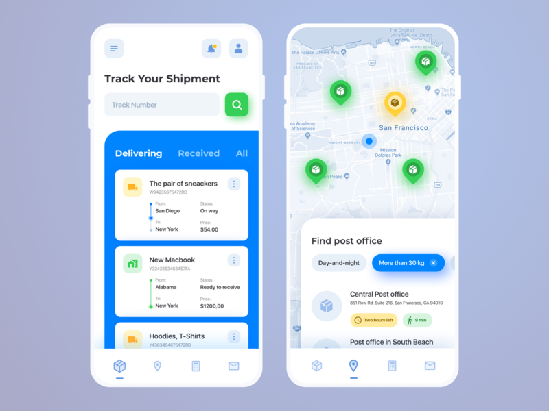 Mobile App Concept – Logistics and transportation ux logistic logistics transport transportation san francisco concept interface app ux ui ramotion design user interface ui user experience