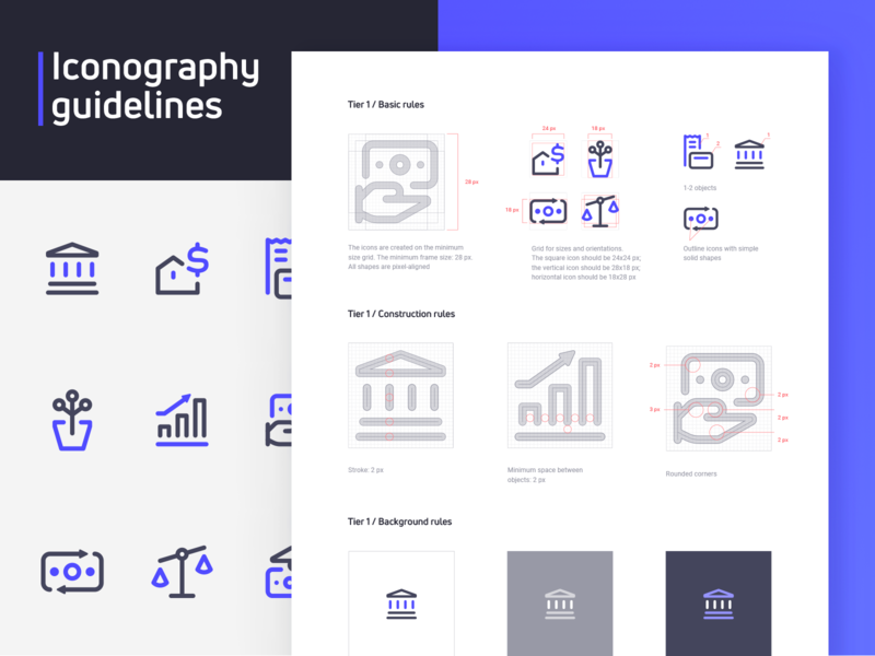 Assetly Iconography Guide – Part 1 guidelines styleguide illustrative design brand brand identity designer branding and identity branding design brand identity logo design icon design iconography icon set icons finance business fintech ramotion branding agency branding