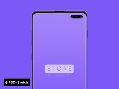 Android Mockup - Samsung S10 sketch psd android ramotion store freebie phone mockup free psd mockup free mockup samsung galaxy s10 samsung mockup android mockup mockup