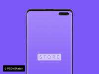 Free Samsung S10 Mockup [PSD+Sketch]