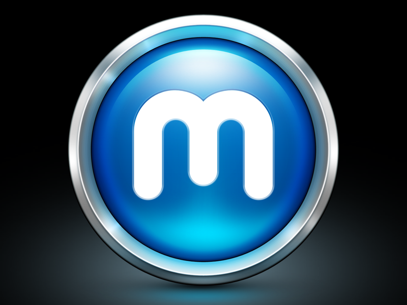 MacGameStore App Icon icon icons ramotion app application mac macos macgamestore game store round metal blue logo glow reflect shadow outline border os