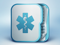 Medical app icon design ramotion