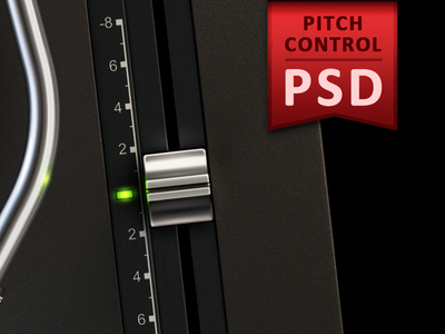 Pitch Control PSD turnplay turntable psd layered free freebie download pitch control vinyl record player app ipad application appstore green lamp metal button