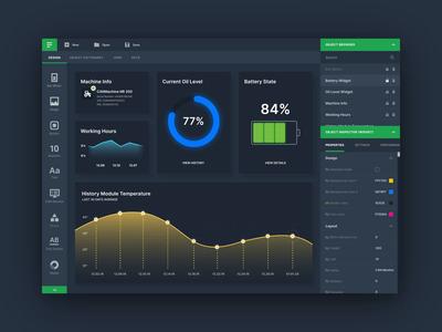 Desktop App Dashboard: Dark Mode
