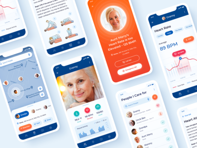 Healthcare iOS App User Interface