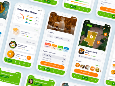 Mobile App Concept - Personalized Nutrition mobile app development company ui ux design ui design mobile application iphone x mockup ios app mobile design mobile app ui mobile app experience mobile app ramotion design interface ui iphone application user interface ux ui app user experience