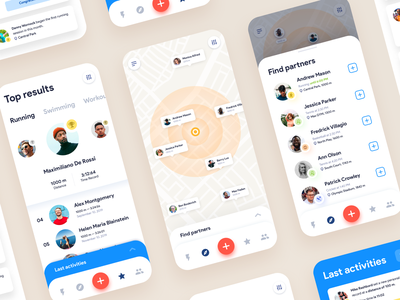 Mobile App Concept: Sport and Fitness design inspiration app concept app design app screens application design app layout mobile dashboard app inspiration mobile ui design mobile app ui ui design app ui mobile app design