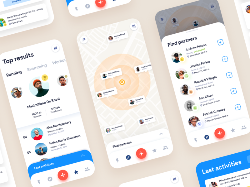 Mobile App Concept: Sport and Fitness
