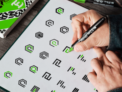 Proemion Logo Design Process drawing design inspiration application icon marketing icon logo designer corporate logo green logo visual identity icon design cool icons app logo minimal logo flat logo design creative logo simple logo tech logo app icon logo presentation logotype logo