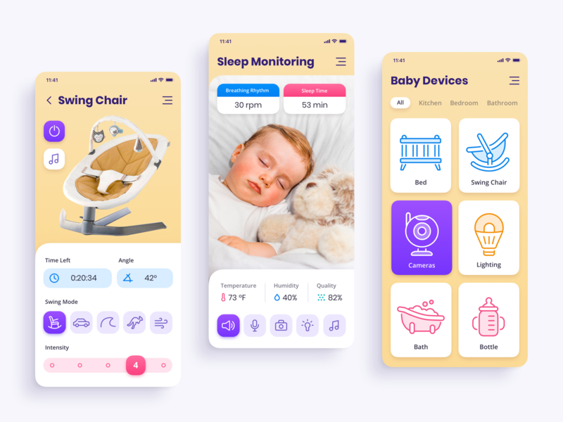 Mobile App Concept: Baby Tech parenthood children child baby mobile app concept mobile app design mobile app development app design interface ui iphone application ux ui user interface ramotion user experience