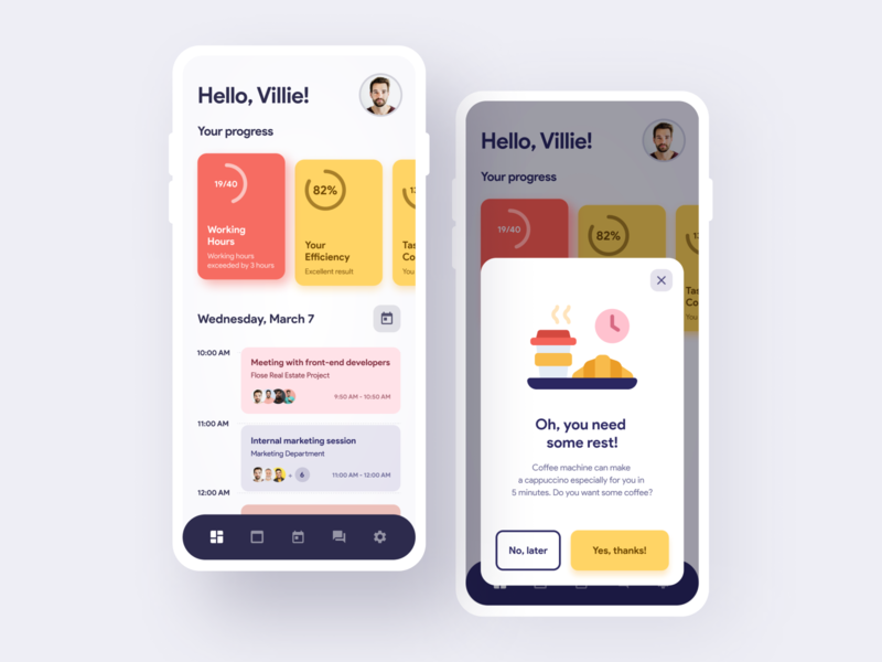 Mobile App Concept - Corporate Wellness Services ui ux design ui design corporate design mobile app agency mobile app design mobile app development design desinger ux interface iphone ui application ux ui app user experience ramotion