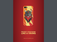 Nordic fury phone case poster
