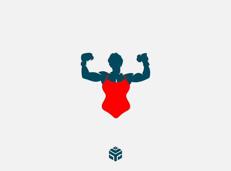 gender boxing boxing gender boxing company creative agency modern clean business logo
