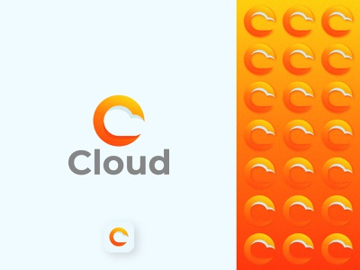 Cloud C Letter Logo Design cloud computing c logo c letter logo cloud app logotype logodesign logo cloudy simbol monogram lettering clouds