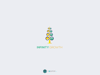 Infinity Growth Logo logo law infinity human full color endless creative corporate consulting consult logo consult company communication colorful business branding bold belief agency administrative