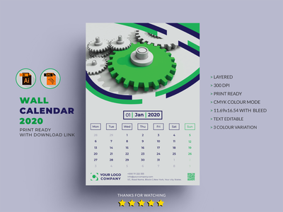 Vertical Calendar Designs Themes Templates And Downloadable Graphic Elements On Dribbble