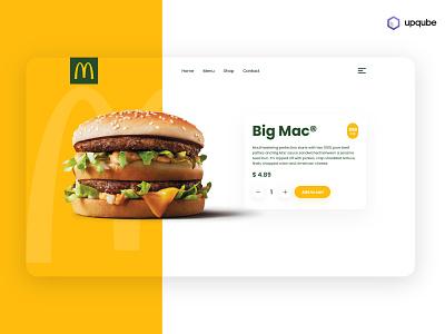 McDonald's Big Mac branding illustration app minimal ux ui flat design clean uidesign mcdonalds