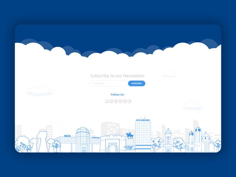 Newsletter footer silhouette newsletter design newsletter city footer design footer webdesign website web illustration logo ux ui flat design clean