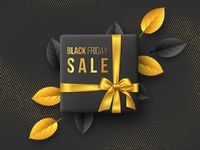 Black Friday vector composition.