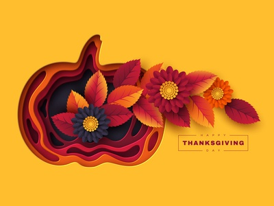 Happy Thanksgiving holiday design.
