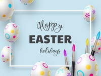 Easter holiday vector composition.