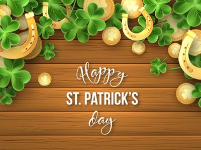 St. Patrick's day vector composition.