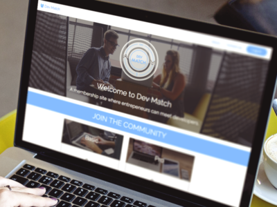 Dev Match UI user interface app logo web app web design website ui
