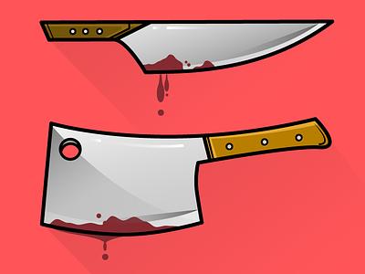 Friday the 13th illustration icon horror halloween friday sharp blood illustrator cleaver knife