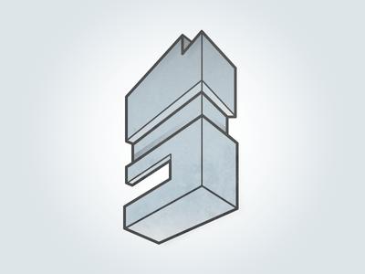 Geo Monolith geometric isometric grey daily illustrator icon monolith stone slate