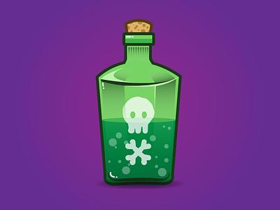 Sick Day daily illustration icon illustrator monday sick green purple poison