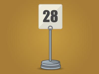 28th Birthday 28 illustrator illustration birthday food order