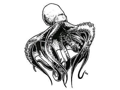 Inked Kingdom | Octopus alien monster octopi octo ocean sea octopus ink illustration