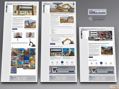 Las Vegas Demolition Responsive Website Pages Mockup Screenshot