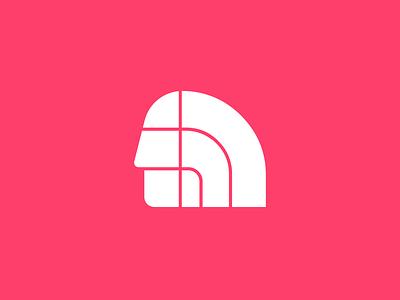 The North Face brand mark portrait face north gear mountain explore logo sport thenorthface