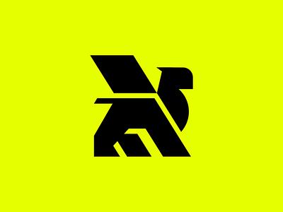 Griffon lion logo mark griffon