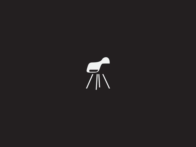 Eames Armchair space negative mark logo chair