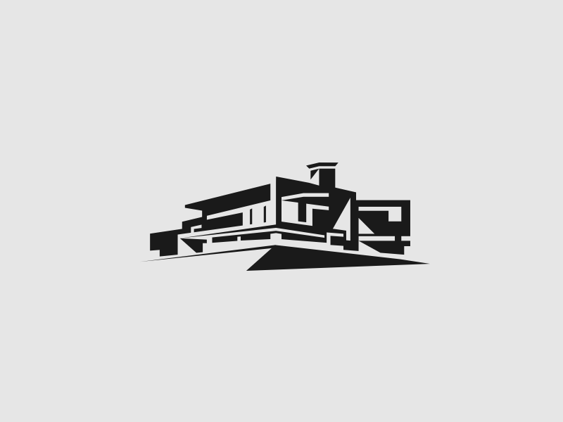 H12 logo mark architecture house